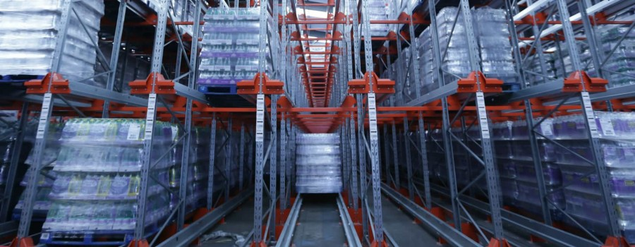 radio shuttle racking at food and drink warehouse, Perthshire, Scotland.