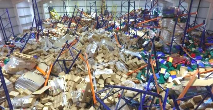 Racking Collapse in a Cheese Warehouse