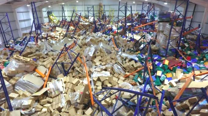 Racking Collapse Cheese Warehouse Rack Inspection